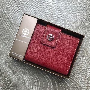 Giani Bernini Red Genuine Leather Wallet